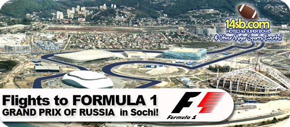 Book Flights to Formula Uno Grand Prix of Russia in Sochi here at 14sb.com