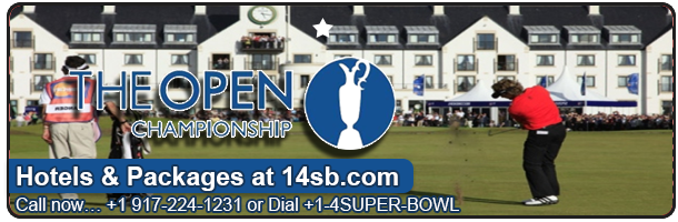 Book British Open Hotels, best prices, hard to find dates at 14sb.com - Click here for our room listings!