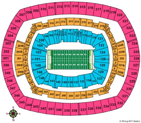 Met Life Stadium Seating Chart