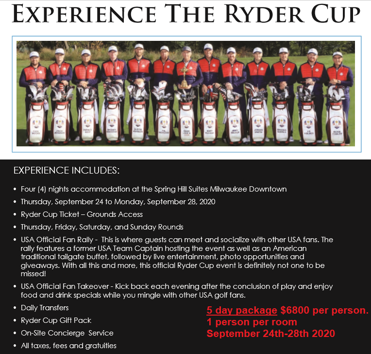 Book your luxury hotel package for Ryder Cup 2021!