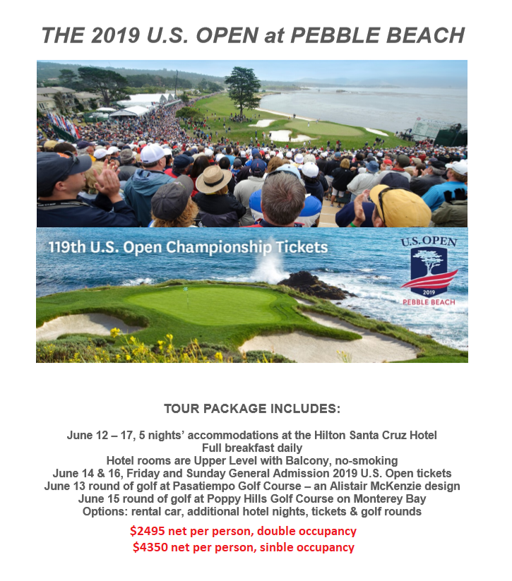 U.S. Open 2020 Pebble Beach Tour Package